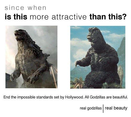 Maybe it's not Godzilla's problem, maybe it's societies...